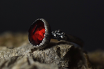 Garnet Fern Ring - Size 7