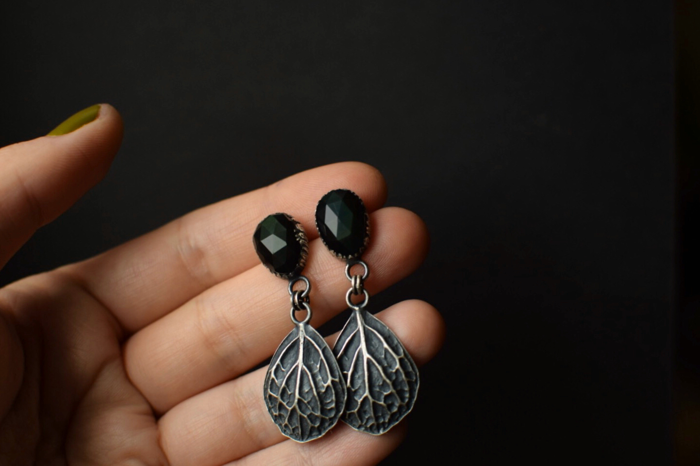 Evergreen Sheen Obsidian Dangles