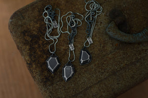 XRough Gems - Sterling Silver Necklace - Handmade Gems - Trial by Fire