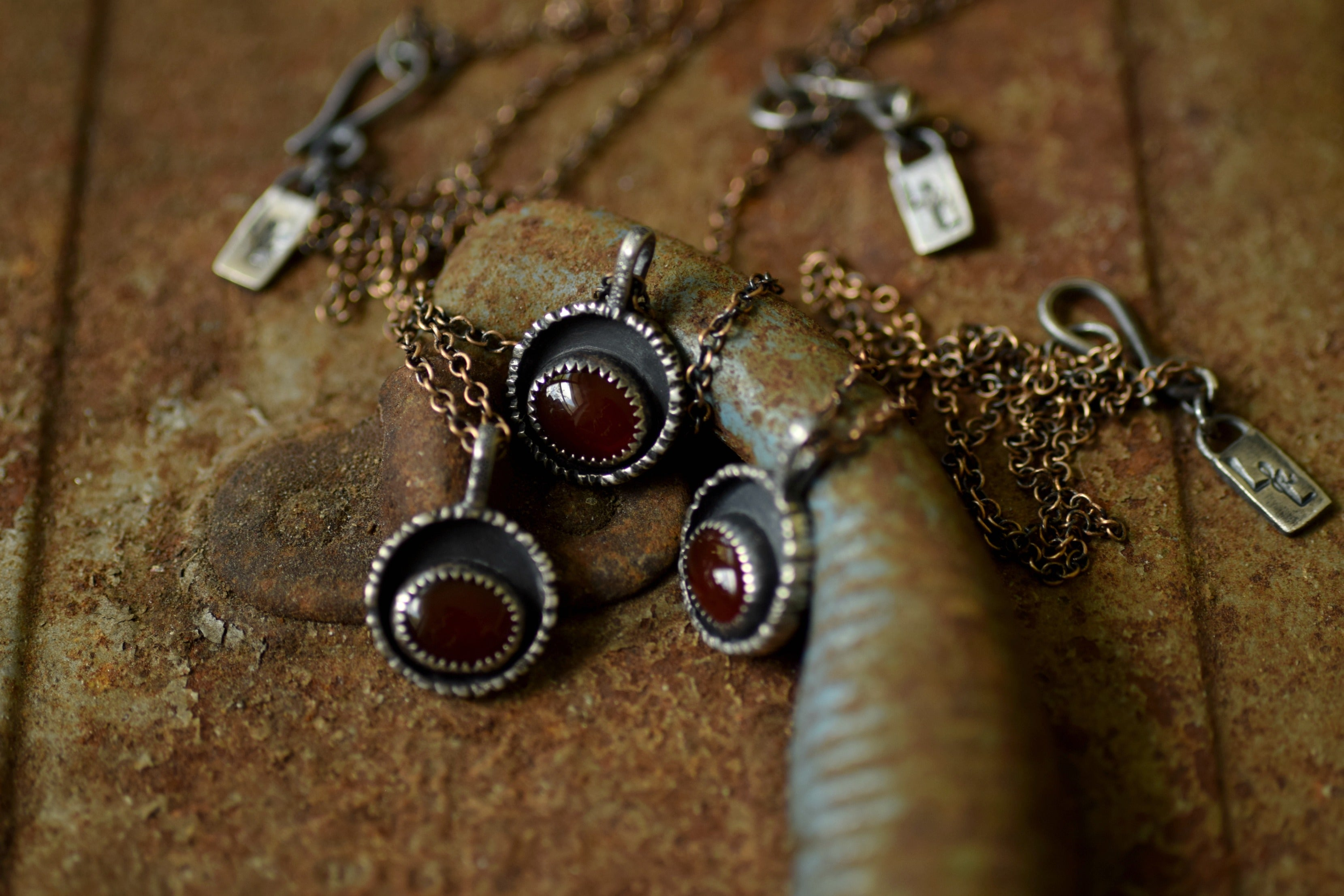 The Searcher - Carnelian and Sterling Silver Necklace - Everyday Necklace