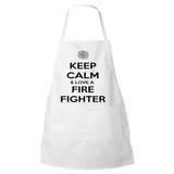 Keep Calm And Love A Firefighter - Firefighter Apron