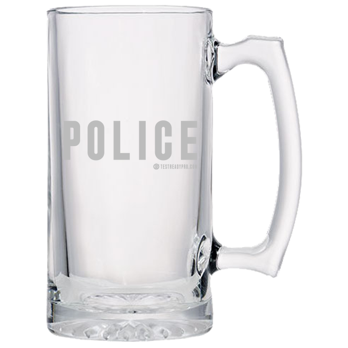 Test Ready Pro - Police Beer Mugs