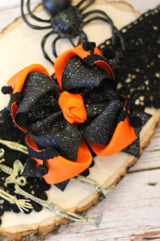 Black & Orange OTT Double Rose