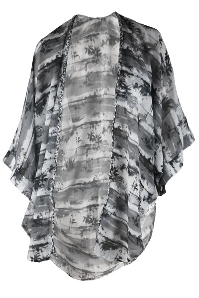 Coogee Kaftan - Black & White