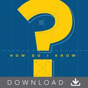 How Do I Know? Audio Digital Download