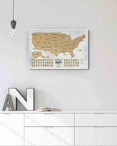 Travel Map USA Art