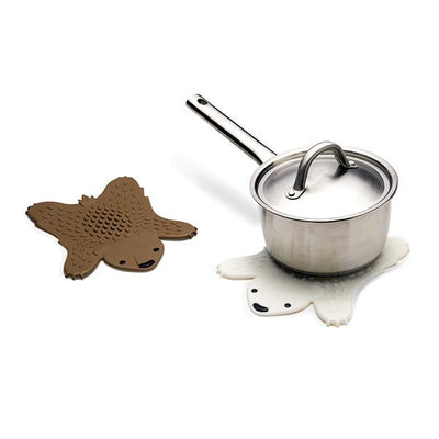 Grizzly  Hot pot trivet-White