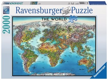 Ravensburger World Map 16683