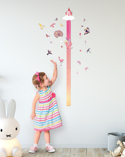 """MAGIC ADVENTURES"" Scratch-off Wall Growth Chart"