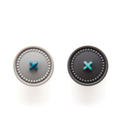 Button Up  Magnetic Holders-Light Grey & Grey