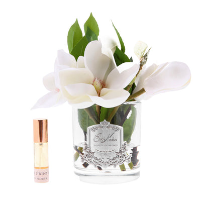 Magnolias in Clear Glass - Ivory SFP07  $99.99  25%off