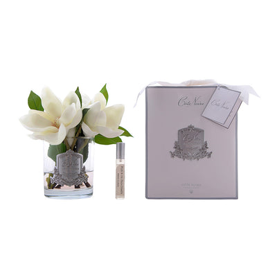 Magnolias in Clear Glass - Ivory SFP07
