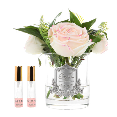 Blush Woodland Rose -Clear Glass SFR15