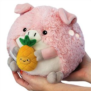 "Mini Pig Holding a Pineapple(7"")"