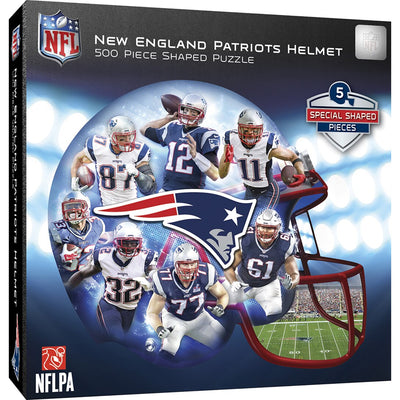 New England Patriots 500 Piece Helmet Shaped