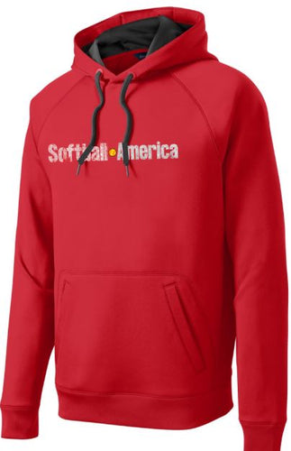 Softball America - Sport-Tek® Tech Fleece Hooded Sweatshirt (RED)