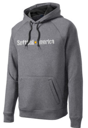 Softball America - Sport-Tek® Tech Fleece Hooded Sweatshirt (Grey)