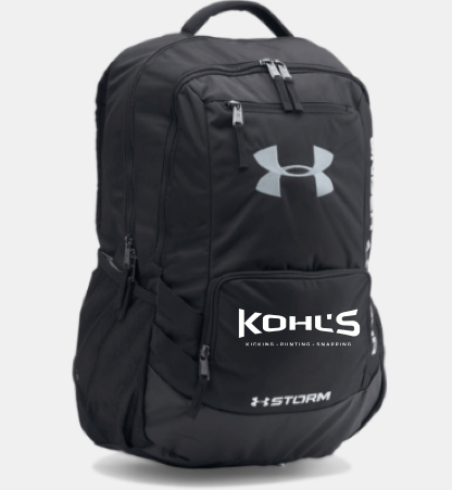 KOHL'S - BLACK UA BACKPACK