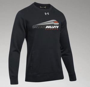 BAY STATE BULLETS - BLACK HUSTLE FLEECE CREW