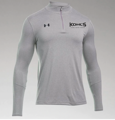 KOHL'S - GREY LOCKER 1/4 ZIP