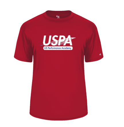 USPA MEN'S RED BADGER TEE