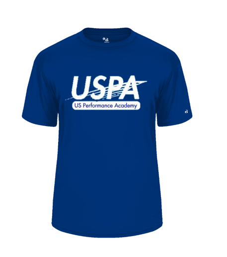 USPA MEN'S ROYAL BADGER TEE