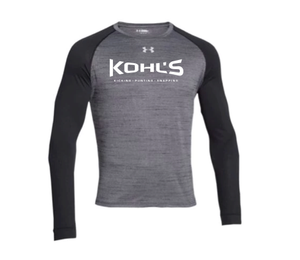 KOHL'S - BLACK UA LONG SLEEVE NOVELTY TEE