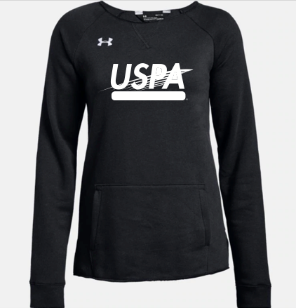 USPA WOMEN'S HUSTLE FLEECE CREW