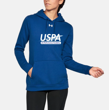 USPA WOMEN'S HUSTLE FLEECE HOODY