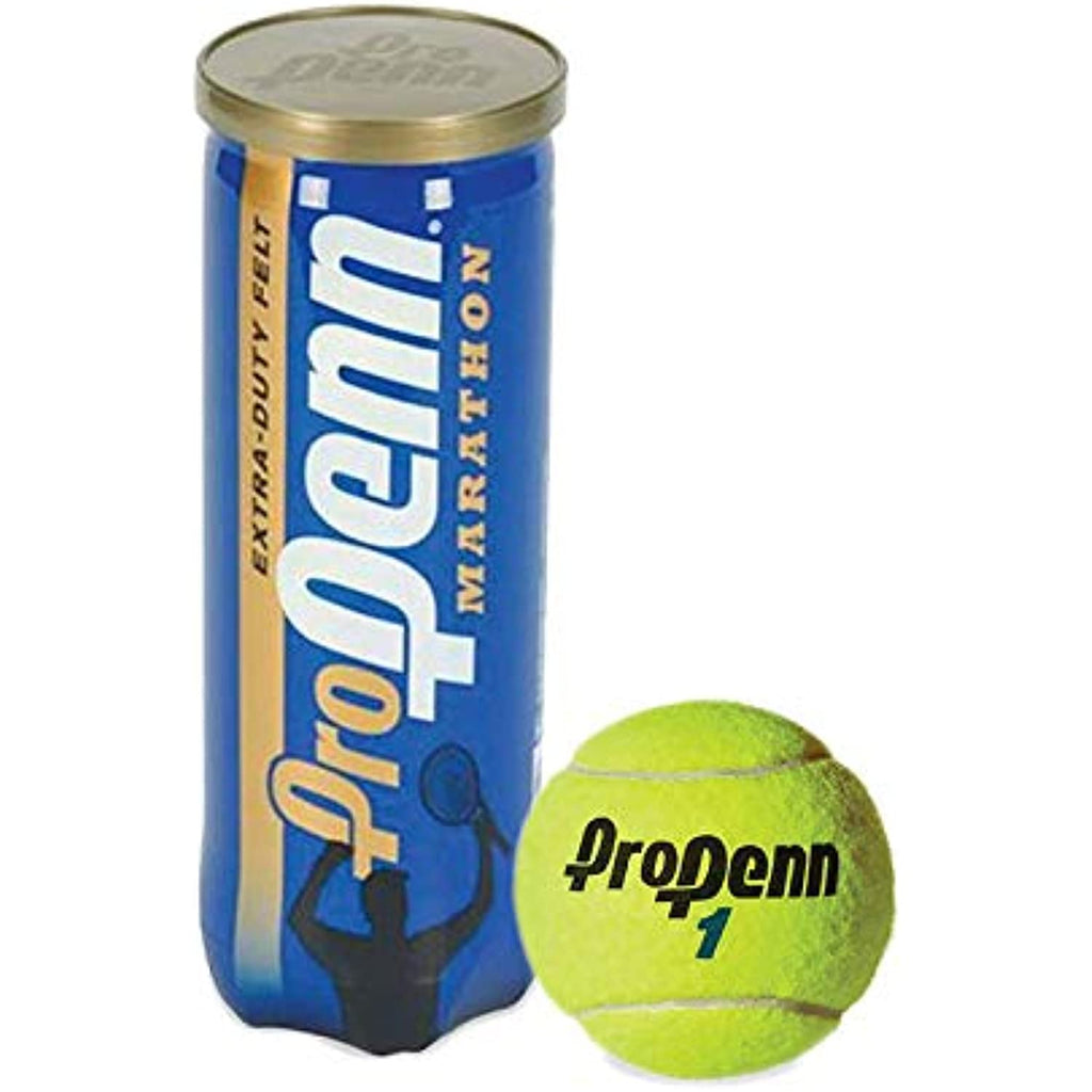 Pro Penn Marathon - Extra Duty Felt Hard Court Tennis Ball Cans in Multi-Packs, 3 Balls Per Can (6 Cans = 1/4 Case)