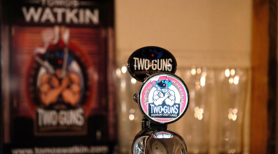 TWO GUNS PREMIUM CRAFT LAGER AVAILABLE AT JONES BAR & KITCHEN MUMBLES FROM WEDNESDAY 21ST OCTOBER 2015