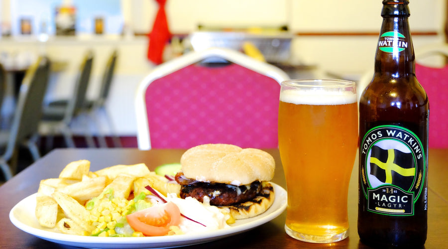 THE MIDLAND PUB SPECIAL OFFER 'BURGER MEAL & TOMOS WATKIN BOTTLE' £7.95