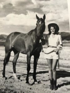 Richards mom and horse