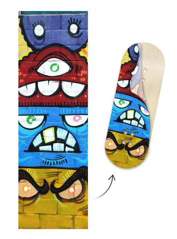 Teak Tuning Fingerboard Graphic Character Cartoon Deck Board Wrap