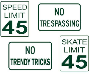 DIY Mini Road Sign Decal Kit - Sticker Sheet of 4 Decals