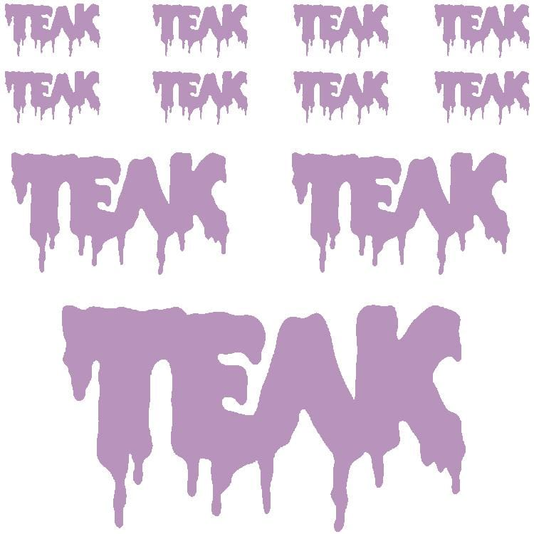 OG Teak Slime Sticker Sheet (11 Stickers)