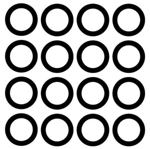 Vinyl Decal Stickers for Wheels (Pack of 16)