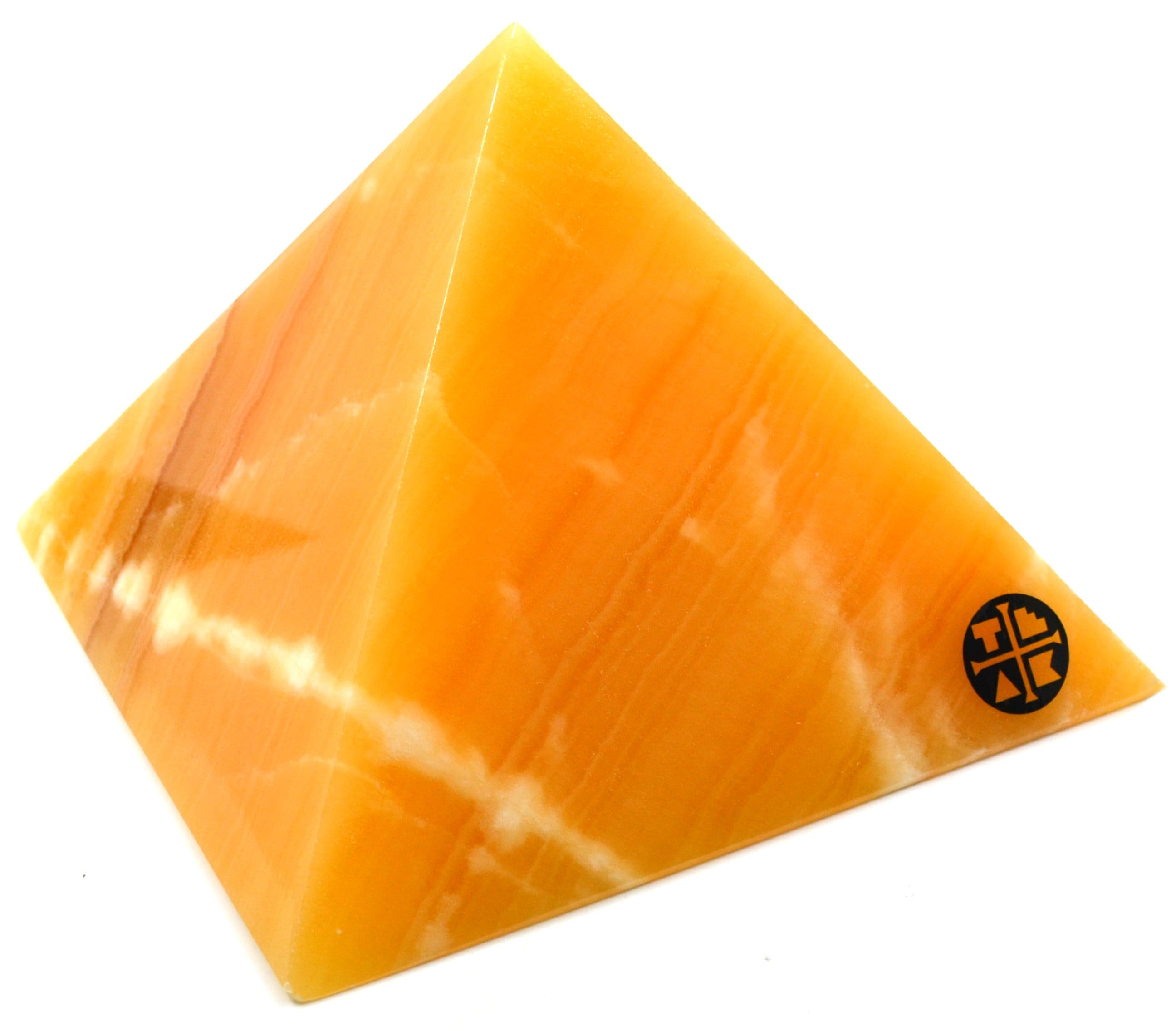 "Orange Calcite Crystal Pyramid (8"" Base)"