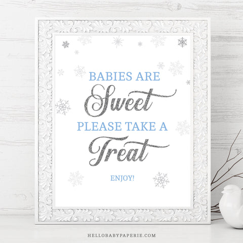 Baby Boy Snowflake Babies Are Sweet Sign