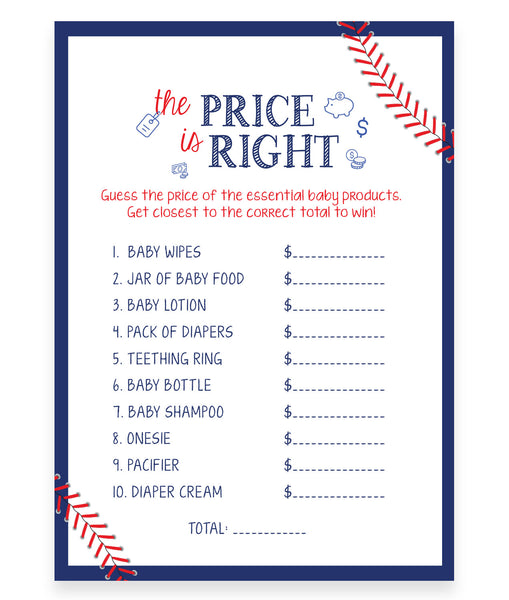 Baseball Price is Right Game Template