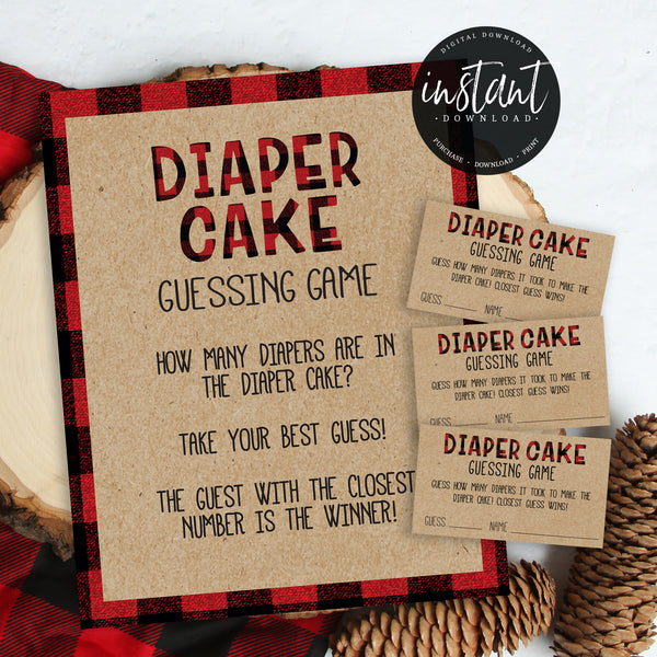 Lumberjack Diaper Cake Guessing Game
