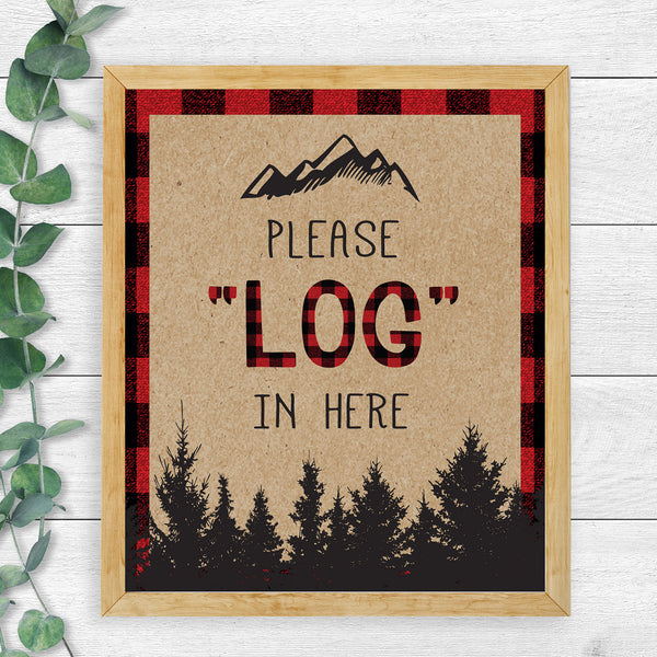 "Lumberjack ""Log"" In Sign - Hello Baby Paperie"