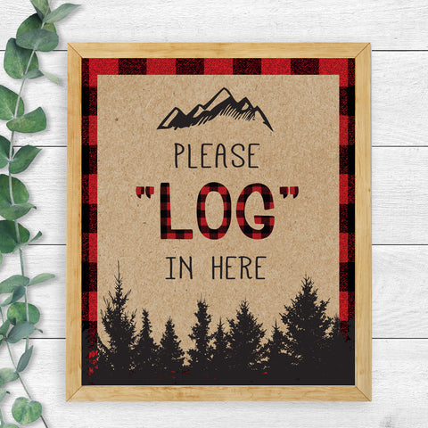 "Lumberjack ""Log"" In Sign"