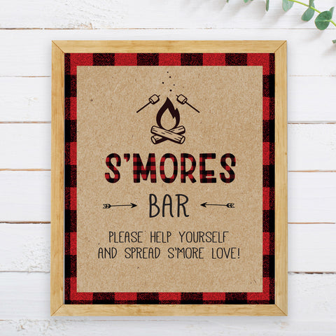 Lumberjack S'mores Bar Sign