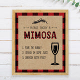 Lumberjack Mimosa Bar Sign - Hello Baby Paperie