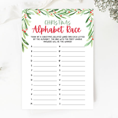 Christmas Alphabet Race Game