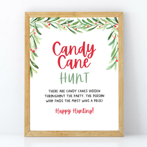 Christmas Candy Cane Hunt Sign