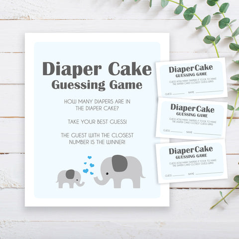 Boy Little Peanut Diaper Cake Game Sign