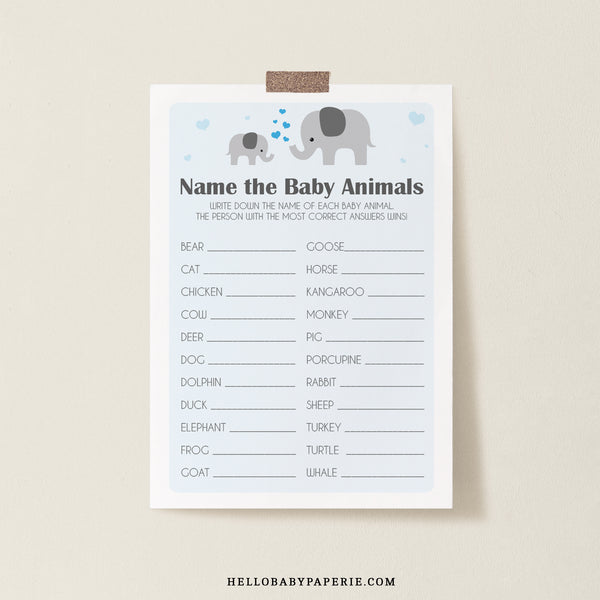 Boy Little Peanut Baby Animal Game Template