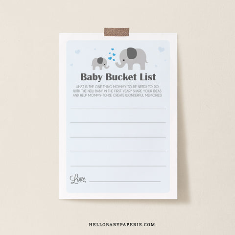 Boy Little Peanut Bucket List Card Template